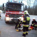 całe szczęście, że był to tylko pokaz umiejętności naszych strażaków.
